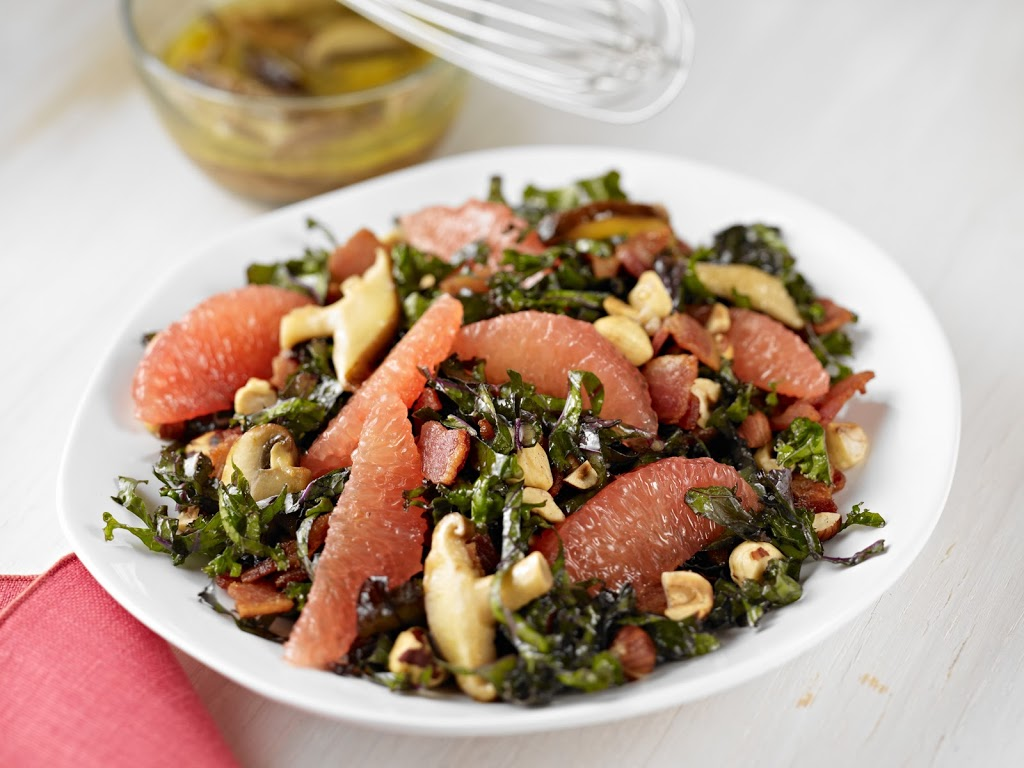 and Grapefruit Salad with Warm Bacon-Wild Mushroom Dressing Recipe ...