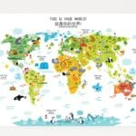 Bilingual World Maps Blend Decor and Education