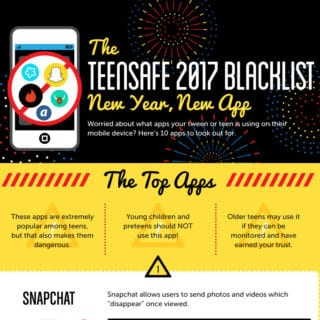 Teen Social Media Blacklist Infographic